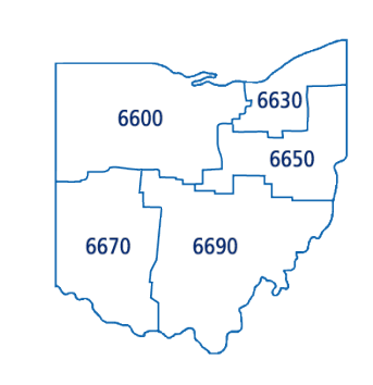 All Ohio PETS Districts Map